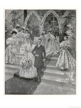 The Duke of Marlborough Weds Consuelo Vanderbilt by T. Dart Walker